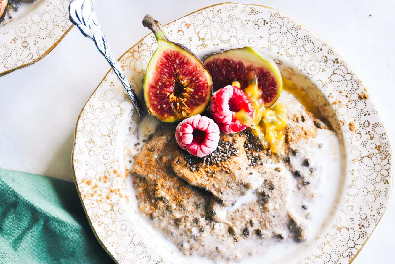 keto hemp heart porridge