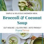 Broccoli & coconut soup
