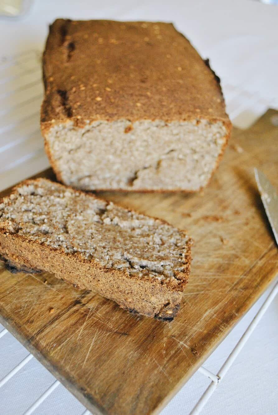 Cassava, Coconut and Flaxseed Bread