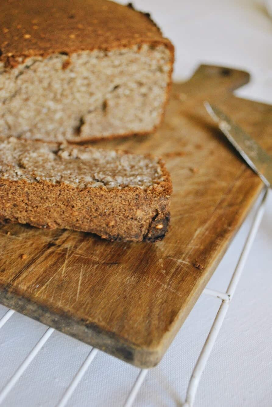 Cassava, Coconut and Flaxseed Bread