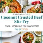 Coconut Crusted Beef Stir Fry