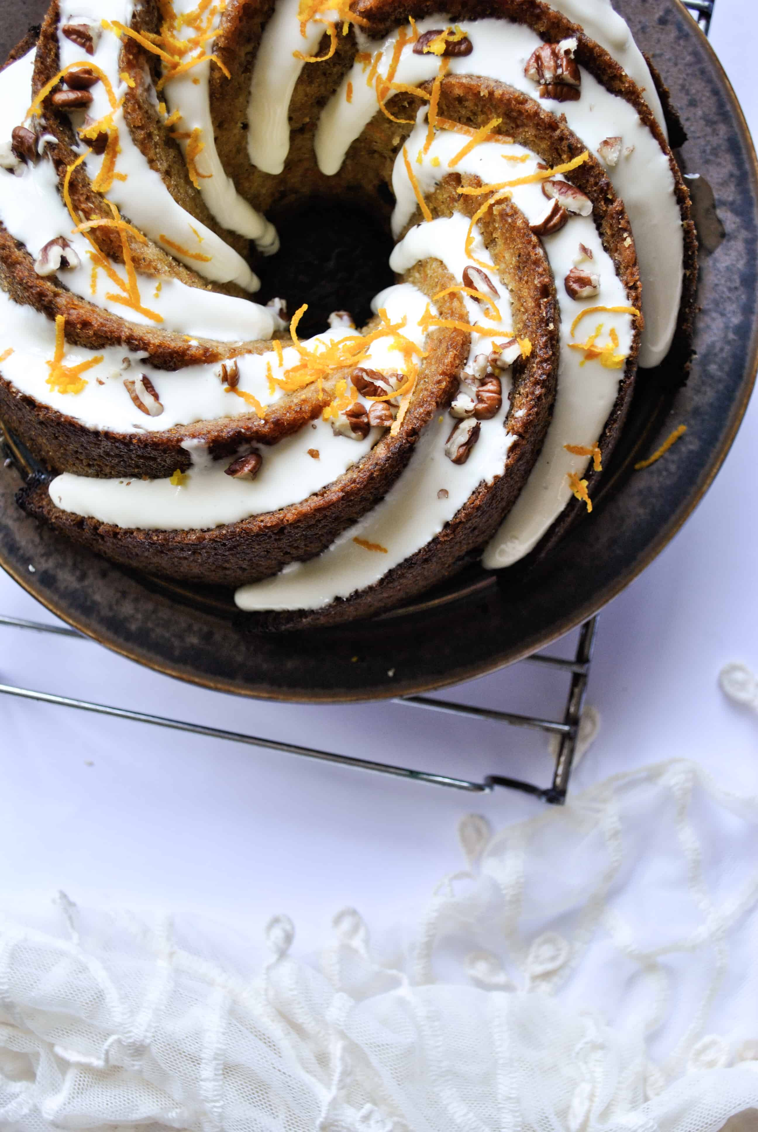 Cassava Flour Carrot Cake | pranathrive.com #glutenfree #grainfree #refinedsugarfree #dairyfree