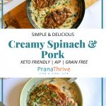 Paprika Pork and Creamy Spinach