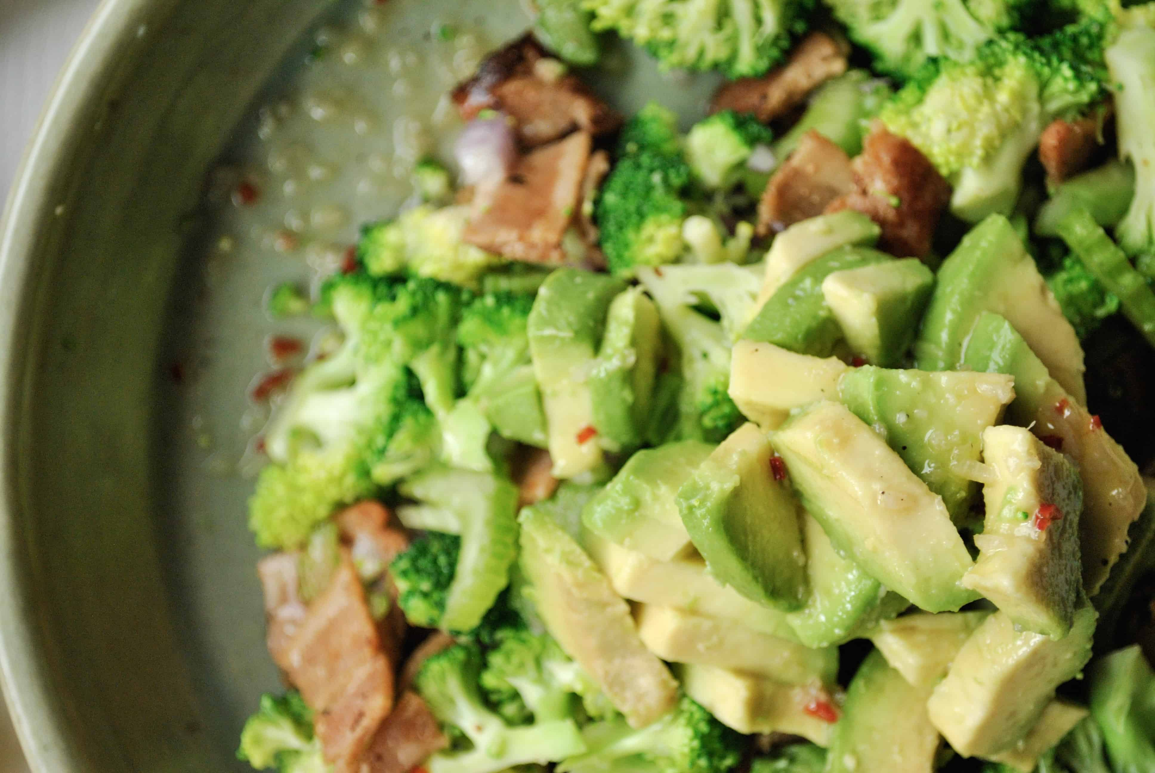 Bacon and Broccoli Salad with Avocado