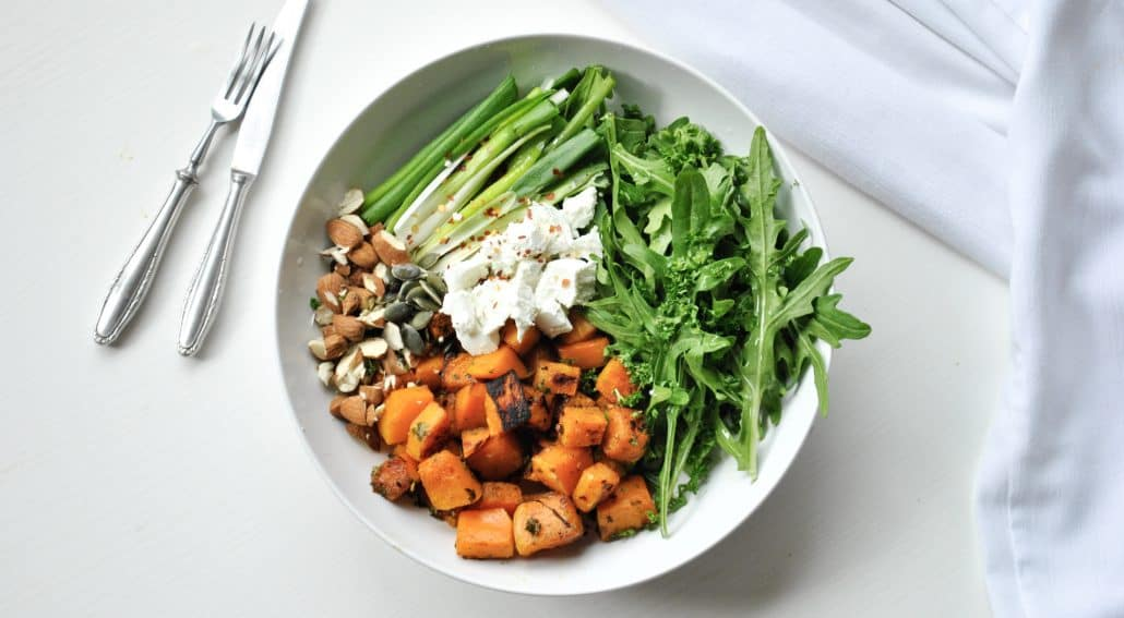 Pumpkin, Rocket and Goats Cheese Salad