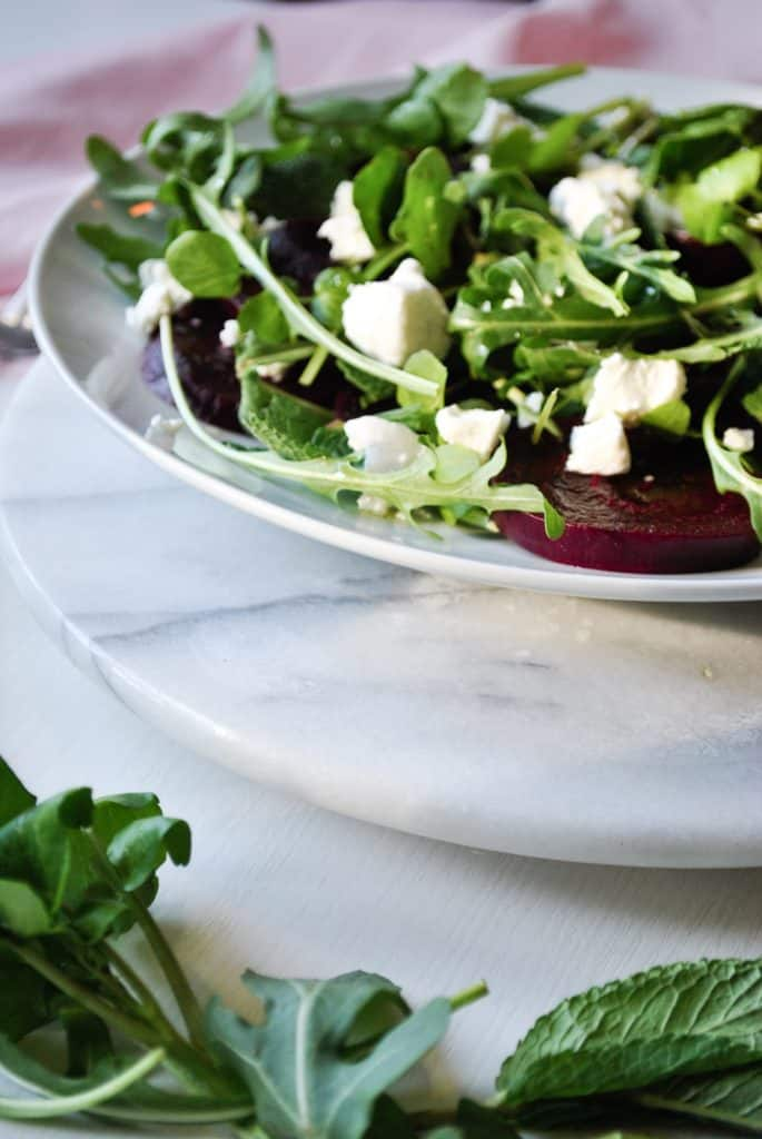 Beetroot and Mint Salad with Goats Cheese