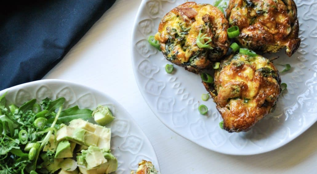 Bacon and Kale Egg Muffins (Keto Friendly)