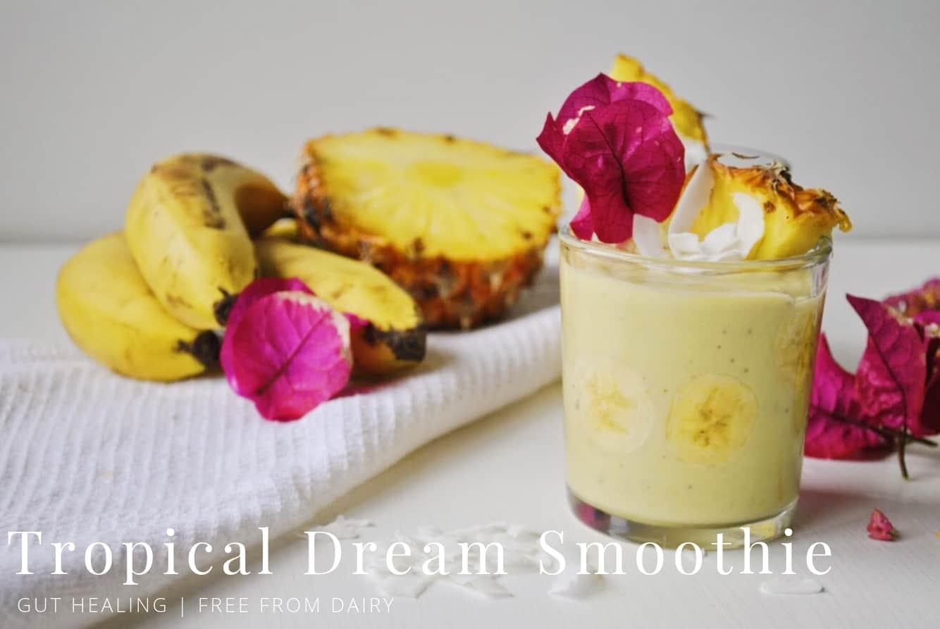 banana pineapple kefir smoothie