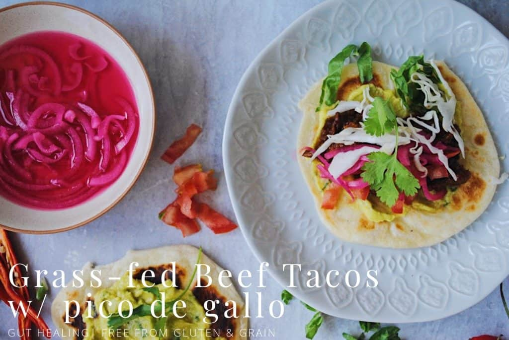 Grass-fed Beef Tacos w/ Pico de Gallo