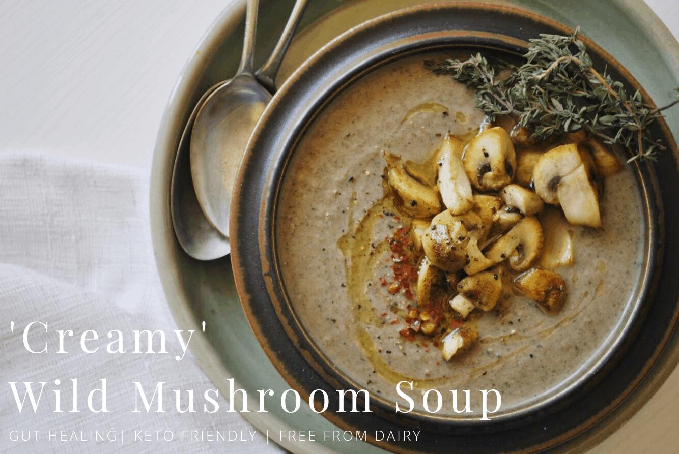 Healthy Mushroom Soup No Cream