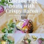 Avocado Egg Boats with Crispy Bacon