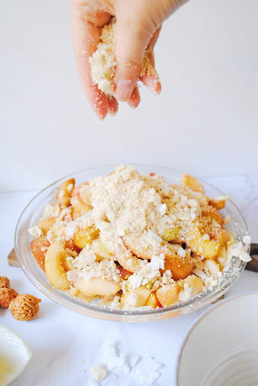 Peach Crumble with Pear & Fennel