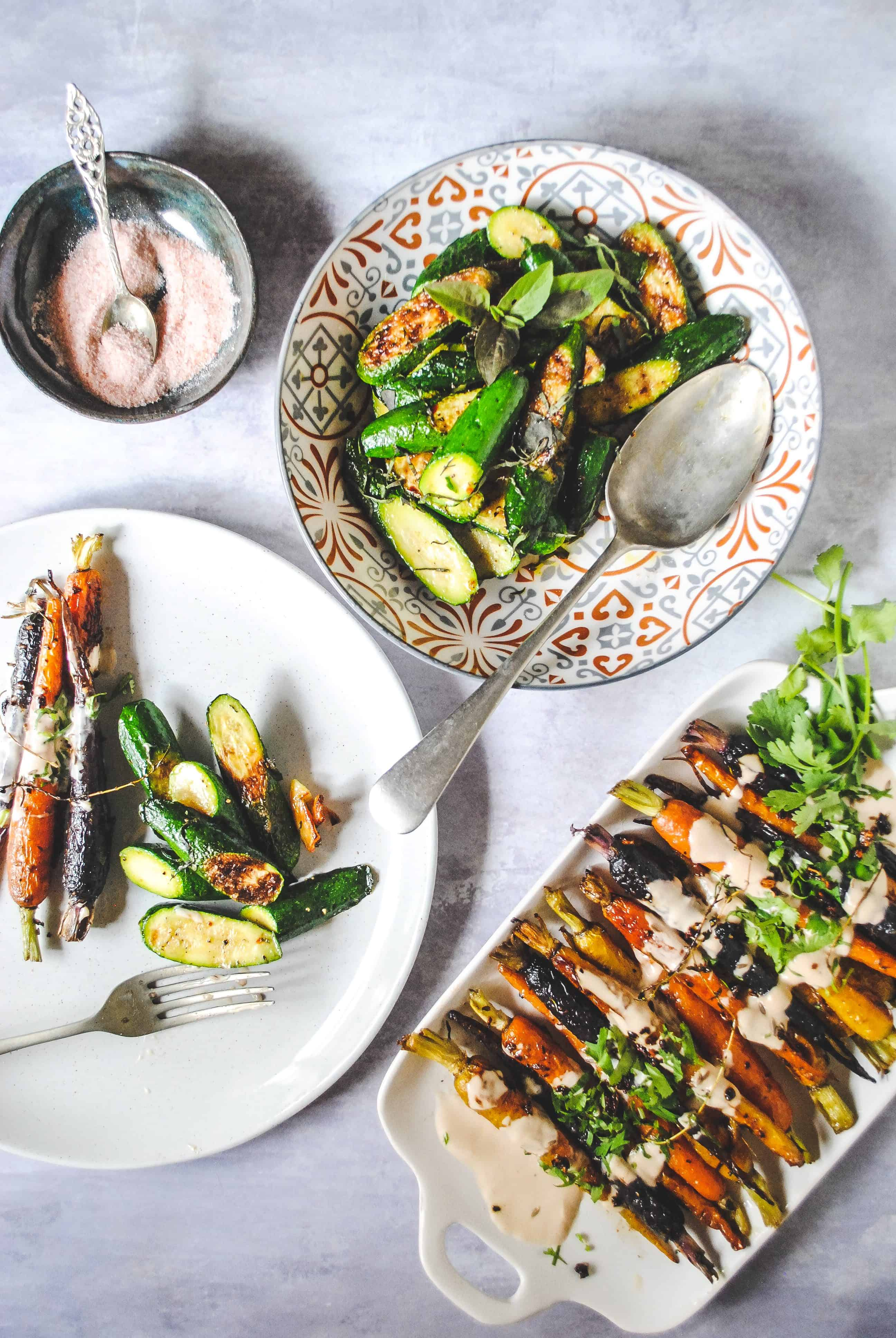 Roasted Baby Carrots with Tahini