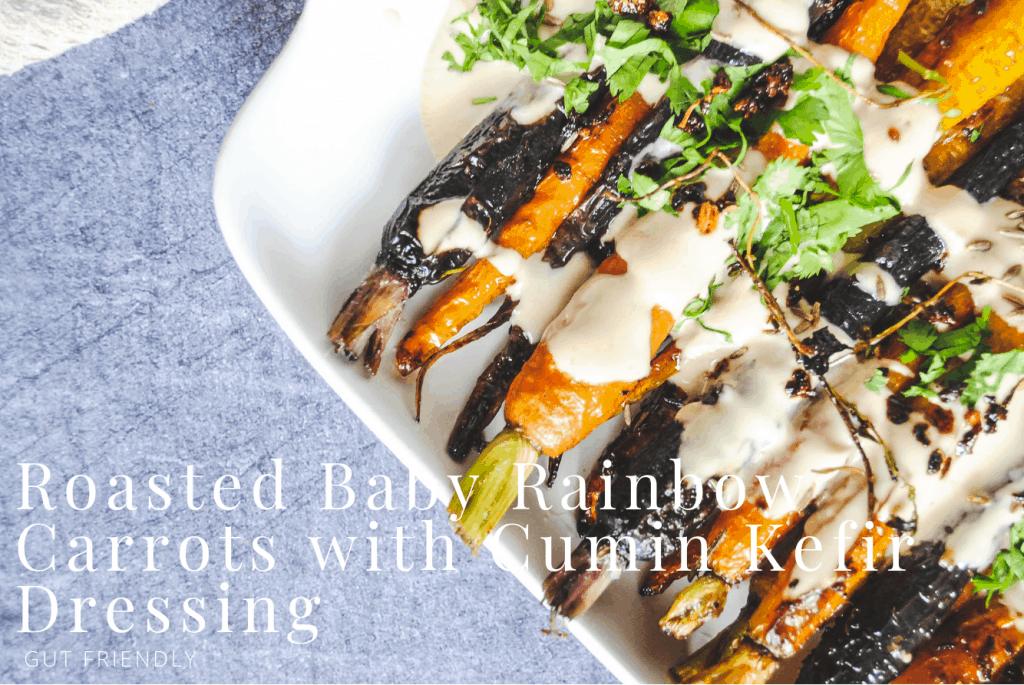 Roasted Baby Carrots with Kefir Dressing