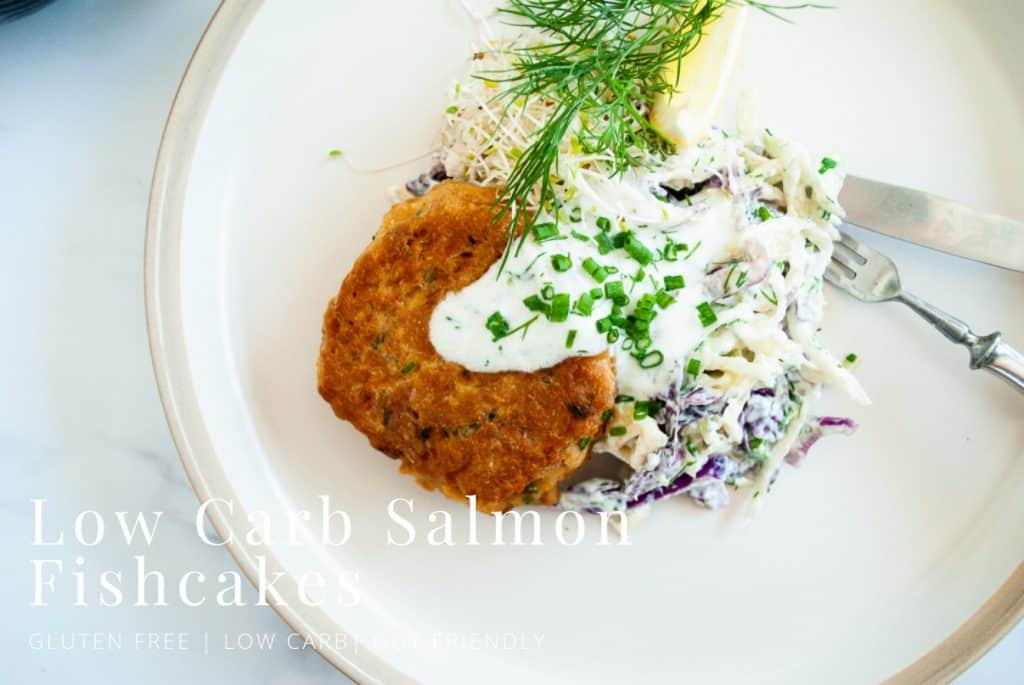 Salmon Fishcakes with Kefir & Dill Slaw | pranathrive.com