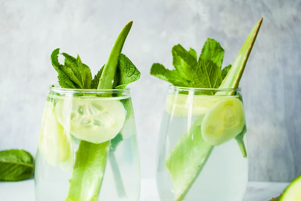 Cooling Aloe & Cucumber Juice | pranathrive.com