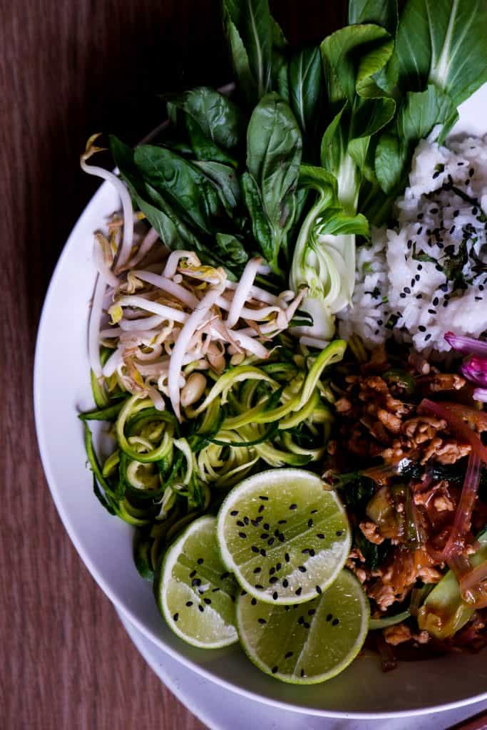 Thai Style Chicken Mince Stir-Fry w. Bak Choy