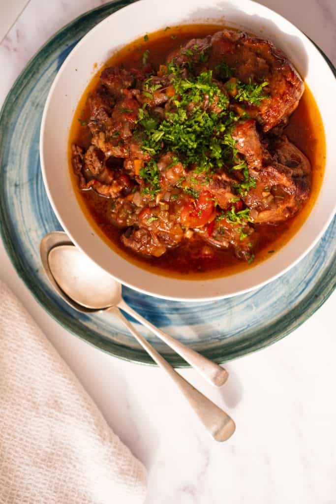 Slow-Cooked Oxtail with Marrow Bones | pranathrive.com